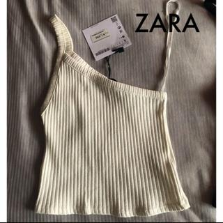 ザラ(ZARA)のZARA ワンショルダーリブトップ (カットソー(半袖/袖なし))