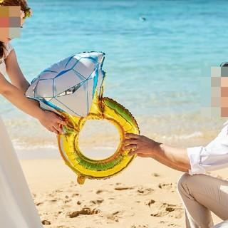 新品リングバルーン 指輪バルーン(ウェルカムボード)