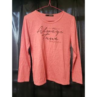 シマムラ(しまむら)のピンク ロングTシャツ(Tシャツ(長袖/七分))