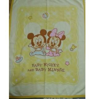ベビー 肌に優しい綿毛布 85×115 ディズニー  ベビーミッキー&ミニー(毛布)