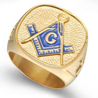 フリーメイソン ゴールドリング カレッジリングタイプ 26号(リング(指輪))