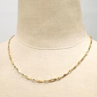 E147 美品 K18 YG きりこチェーン ネックレス 42cm 15.2g(ネックレス)