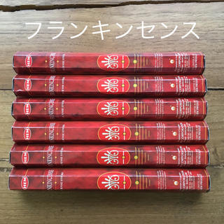 送料無料 新品 お香 HEM フランキンセンス 6箱セット 乳香(お香/香炉)