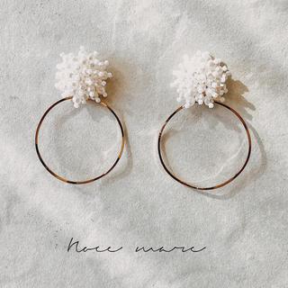 -pearl hoop- 再販(ピアス)