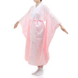 振袖用 長襦袢 「ピンク」 掛け衿付き 特典で衿芯2本付き Lサイズ 新品(振袖)