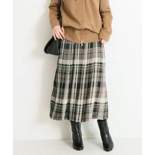 スピックアンドスパン(Spick and Span)のSpick & Span☆チェックプリーツスカート 新品 38 グレー(その他)