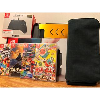 ニンテンドースイッチ(Nintendo Switch)の【保証付‼️】任天堂 スイッチ ソフト4本 ホリコン アクセサリー セット‼️(家庭用ゲーム本体)