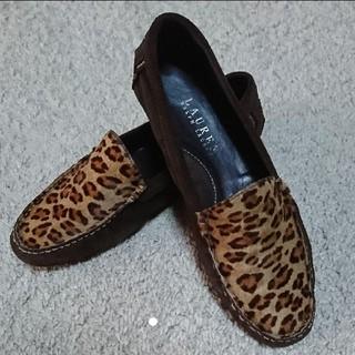 ラルフローレン(Ralph Lauren)のRALPH LAUREN*ローファー フラットシューズ レオパード ハラコ(ローファー/革靴)