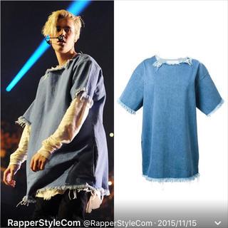 Justin Bieber着用 デニムTシャツ