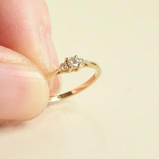 アーカー(AHKAH)のk18ダイヤモンド ドレスアドレスリング 指輪(リング(指輪))