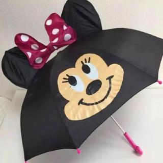 ディズニー(Disney)の即購入OK!新品★かわいい♫ディズニー ミニー キッズ 耳付 傘 47cm(傘)