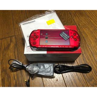 プレイステーションポータブル(PlayStation Portable)の PSP-300 ラディアント・レッド (PSP-3000RR)(携帯用ゲーム本体)
