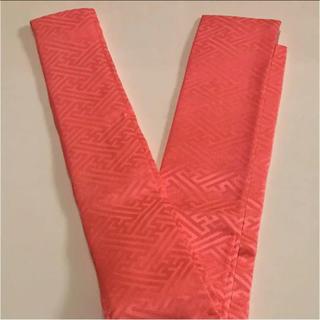 正絹 重ね襟 サーモンピンク 半襟(和装小物)