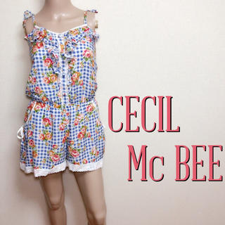 セシルマクビー(CECIL McBEE)の新品タグ付き♪セシルマクビー スウィートオールインワン♡リエンダ ダズリン(オールインワン)