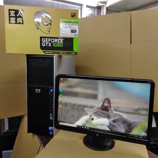 ヒューレットパッカード(HP)のGTX1050搭載水冷式ゲーミングPC Z400 メモリ8GB HDD 500G(デスクトップ型PC)