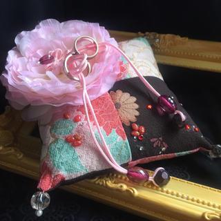 リングピロー【和風モダンふわり花びら】神前 ウェディング 結婚式 送料無料(和装小物)
