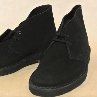 クラークス(Clarks)のクラークス Clarks デザートブーツ 黒スエード US8.5 正規新品N(ブーツ)