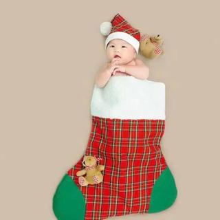 クリスマス靴下 ベビー布団 赤ちゃん 写真撮影 キッズ服 クリスマス