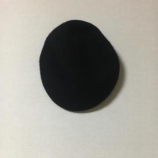 ジーユー(GU)のGU ブラック ベレー帽(ハンチング/ベレー帽)