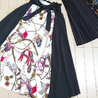 シマムラ(しまむら)の完売品 しまむら スカーフ柄切り替えスカート ZARAGUザラmoussySLY(ロングスカート)