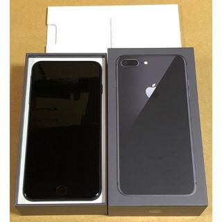 アップル(Apple)のiPhone8 Plus 64GB スペースグレー SIMフリー SIMロック解(スマートフォン本体)