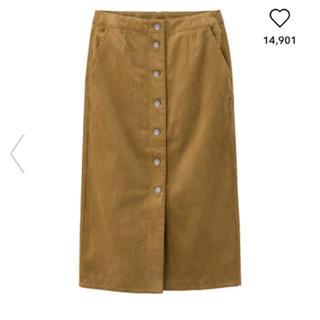GU - GU コーデュロイ スカート フロントボタン