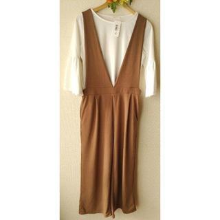 ショコラフィネローブ(chocol raffine robe)の未使用 ショコラフィネローブ 2点セット オールインワン カットソー F(オールインワン)