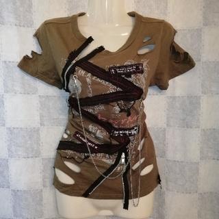 ディオラート(Deorart)のDeorartダメージTシャツ(Tシャツ(半袖/袖なし))
