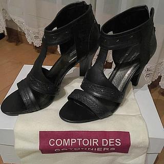 コントワーデコトニエ(Comptoir des cotonniers)のCOMPTOIR DES COTONNIERS BLACK ROQUE 37(サンダル)