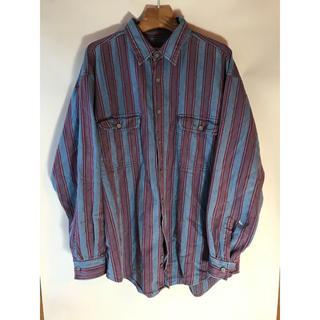 アリゾナ(ARIZONA)のArizona ストライプ デニムシャツ 古着 90's ビッグシルエット(シャツ)