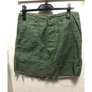 アゴストショップ(AGOSTO SHOP)のアゴストショップAGOSTO カーキ変形スカート(ミニスカート)