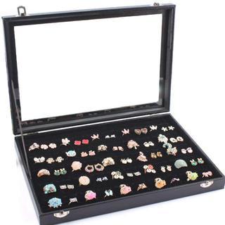 【送料無料】リングケース ベロア調 100個収納 ジュエリーボックス(ケース/ボックス)