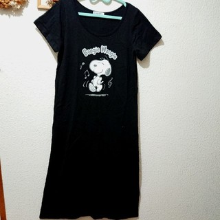 シマムラ(しまむら)の新品 スヌーピー ロング シャツ ワンピース♥️Lサイズ しまむら マキシ(ロングワンピース/マキシワンピース)