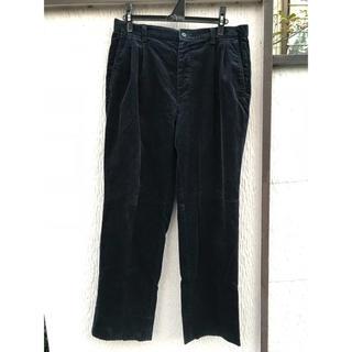 リーバイス(Levi's)のDOCKERS コーデュロイ ツータック パンツ 古着 ネイビー 33インチ(スラックス)