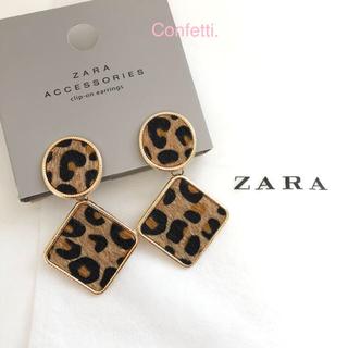 ザラ(ZARA)のZARA レオパードピアス ザラ ピアス 大ぶり 新品未使用(ピアス)