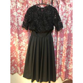 ラグナムーン(LagunaMoon)のLAGUNAMOON♡ドレス♡黒♡Mサイズ(ミディアムドレス)