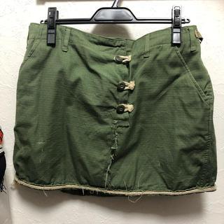 アゴストショップ(AGOSTO SHOP)のアゴストショップカーキリメイクスカート(ミニスカート)