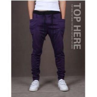 超人気のジョガーパンツ パープル 紫 Mサイズ メンズ(その他)