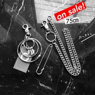 "【75cm】Wallet Chain+Multi Key Ring""STUDY""(ウォレットチェーン)"