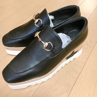 星柄★プラットフォーム厚底ローファー(ローファー/革靴)