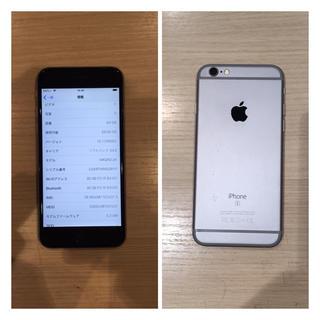 アイフォーン(iPhone)のUSED品 SIMフリーiPhone 6s 64GB スペースグレー(スマートフォン本体)