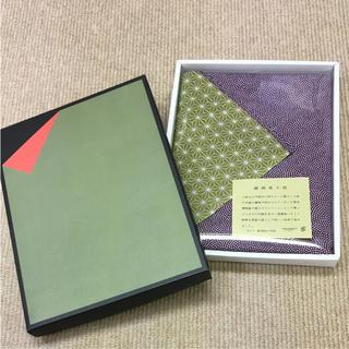 新品 風呂敷 綿両面小紋 青海波 麻の葉 ふろしき 和装小物(和装小物)