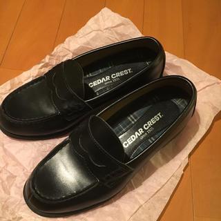 セダークレスト(CEDAR CREST)のローファー 黒 セダークレスト  24.0EEE(ローファー/革靴)