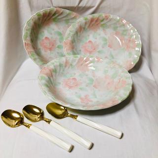 トノ(TONO)の【お値下げ】TONO(東濃食器) お皿、スプーン 3セット (食器)