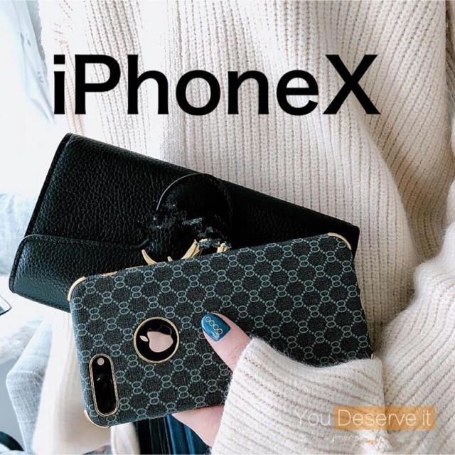 【新品】iPhoneケースX 高級ブランド柄 ラグジュアリーカラー ブラックの通販 by Royal_Trend_Buyer's shop|ラクマ