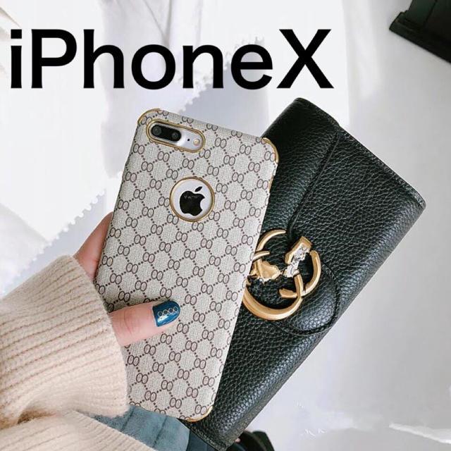 iphone7 ケース ブランド風 | 【新品】iPhoneケースX 高級ブランド柄 ラグジュアリーカラー ベージュの通販 by Royal_Trend_Buyer's shop|ラクマ