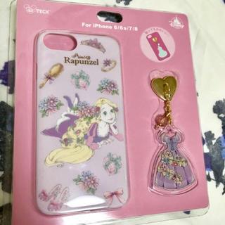 ディズニー(Disney)の新品 ディズニー ラプンツェル スマホケース iPhone チャーム付き(iPhoneケース)