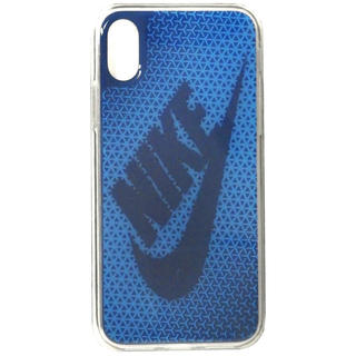 ナイキ(NIKE)のNIKE(ナイキ) グラフィック スウッシュ iPhoneX ケース ブルー(iPhoneケース)