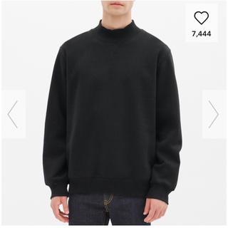 ジーユー(GU)のGU 新品 メンズ スウェットモックネックシャツ Mサイズ(スウェット)
