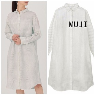 ムジルシリョウヒン(MUJI (無印良品))の新品 無印良品 リネンワンピース M(ひざ丈ワンピース)